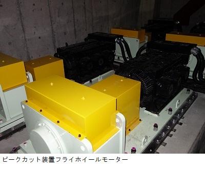 ピークカット装置フライホイールモーター